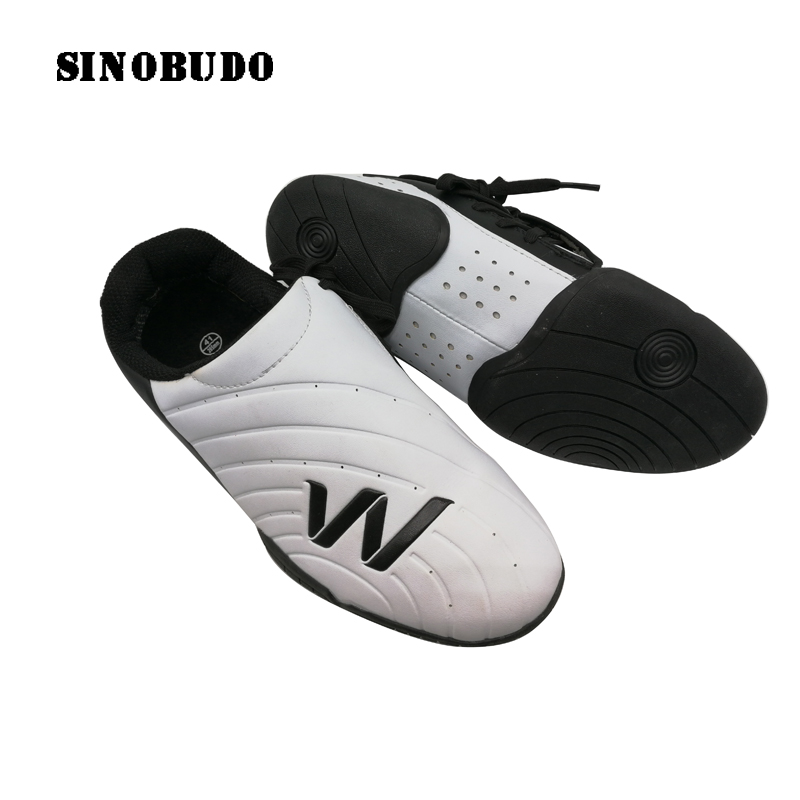 Elite Taekwondo Master Shoes Fitness Sports Breathable Slip White Sneaker Adults