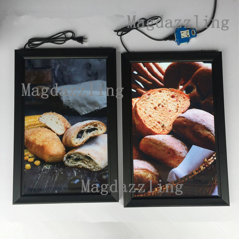 16x24 black snap frame super slim light box menuposter display ledbacklit board