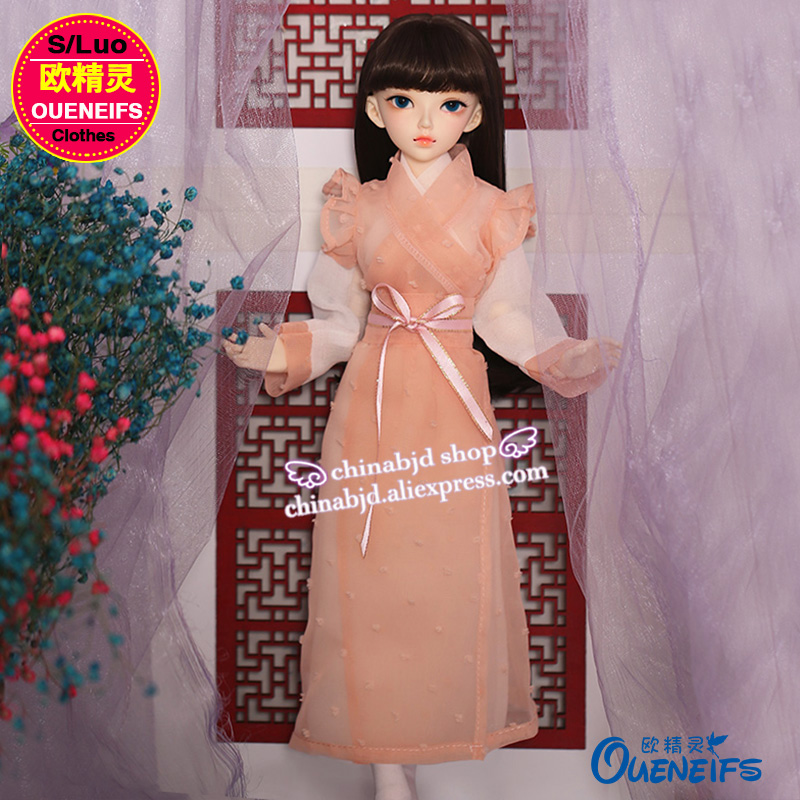 BJD Clothes 1/4 Elegant Chinese style Ancient costume For Minifee Chloe Rena Body YF4-120 Doll Accessories 1
