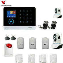 YoBang Security 3G WCDMA/CDMA GPRS Home Intruder Security Alert System With WIFI Indoor IP Camera Wireless Alert IOS Android APP