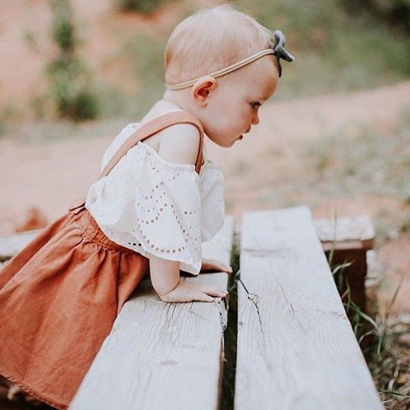6bdc70336 Emmababy 0 3Y Baby Girls Suspender Skirt solid brown cute Spring ...