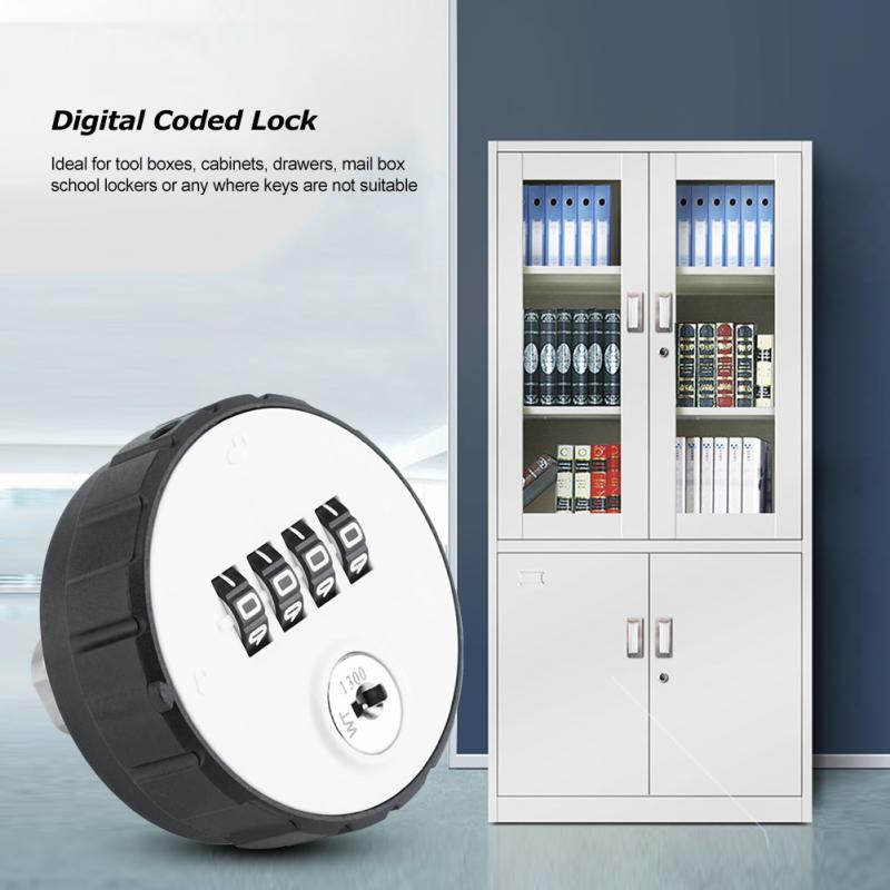 Digital Combination Cam Lock Zinc Alloy Code Password Lock Combination Cam Mailbox Cabinet Password Lock Locker with Keys
