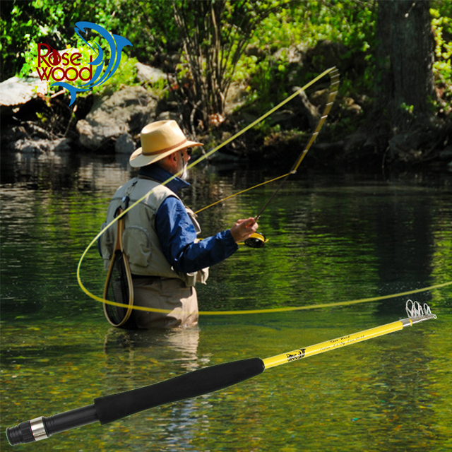 New portable telescopic fly fishing rod 6 39 6 3 traveller for Fly fish usa