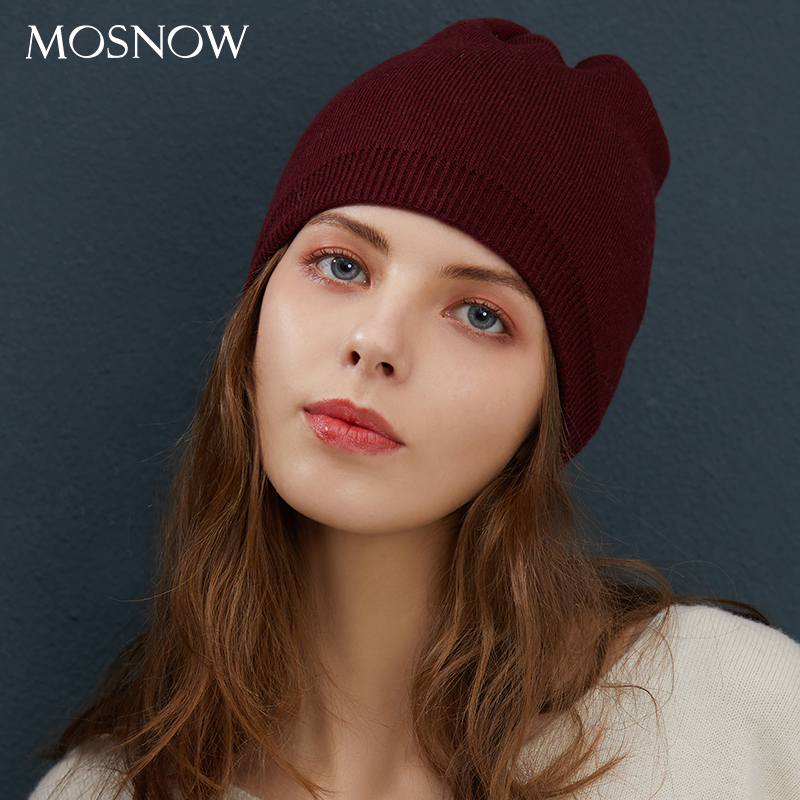 Winter Hat Women's Knitted Wool Beanies Female 2019 New Fashion Beanie Skullies Casual Outdoor Ski Caps Thick Warm Hats Women