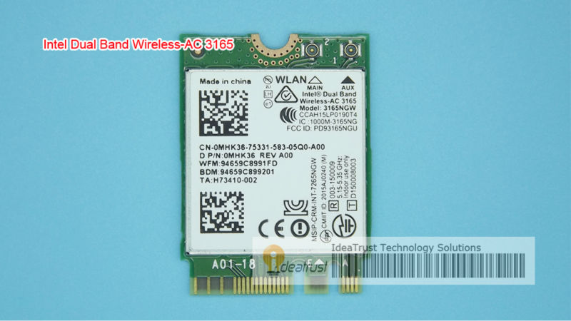 Brand new for Intel Dual band Wireless-AC 3165 <font><b>3165NGW</b></font> 3165 AC intel3165 BT4.2 433Mbps 802.11ac Wireless Network Card image