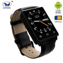 GSM/WCDMA SIM Karte GPS WIFI Bluetooth Smartwatch 1,63 zoll HD Schrittzähler Pulsmesser Smartphone Für iPhone Android