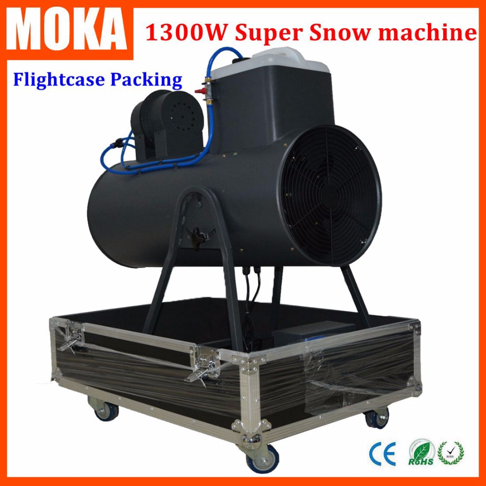 1300W Super Big Snow Machine with flightcase packing Manual Control High Speed Blowing Fan snowstorm machine for stage dj club  цены
