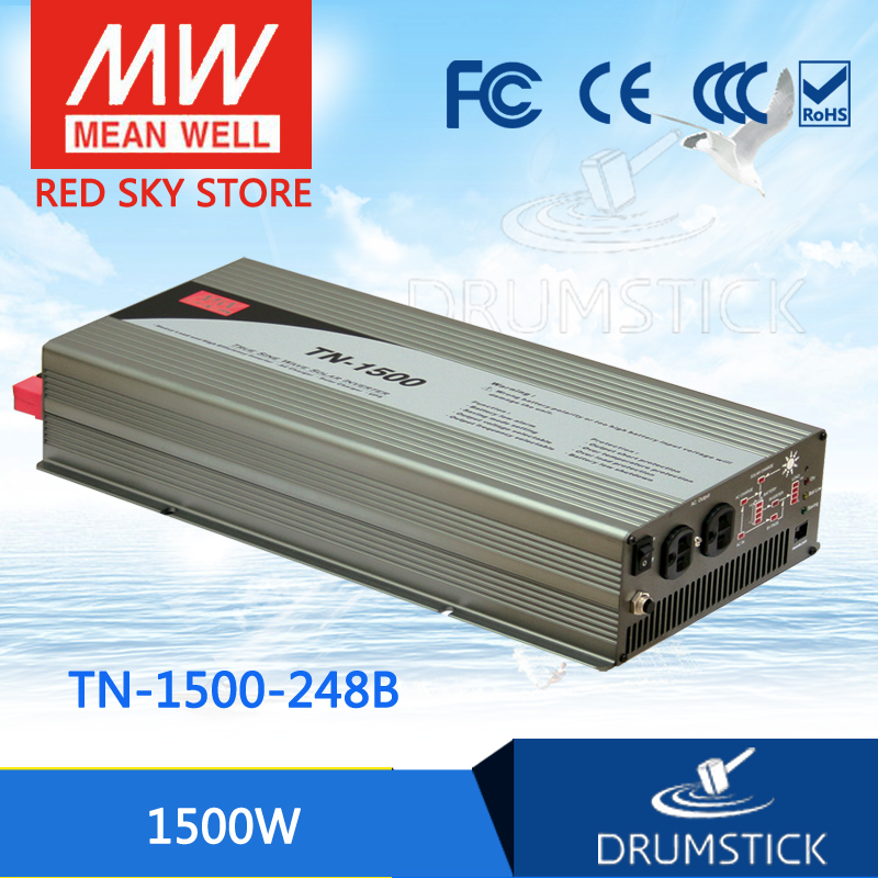 цена на hot-selling MEAN WELL TN-1500-248B EUROPE Standard 230V meanwell 1500W True Sine Wave DC-AC Inverter with Solar Charger