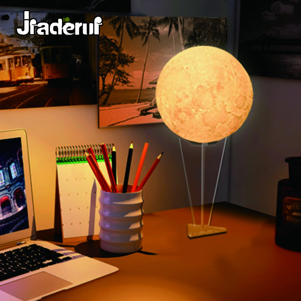 Jiaderui LED Moon Night Light Creative RGB 3D Novelty Table Lamp Bedroom Bookcase Home Baby Sleep Light Decor Children Gift Lamp 3d luminous ice hockey player shape led table lamp 7 colors changing home living room decor light fixture baby sleep night light