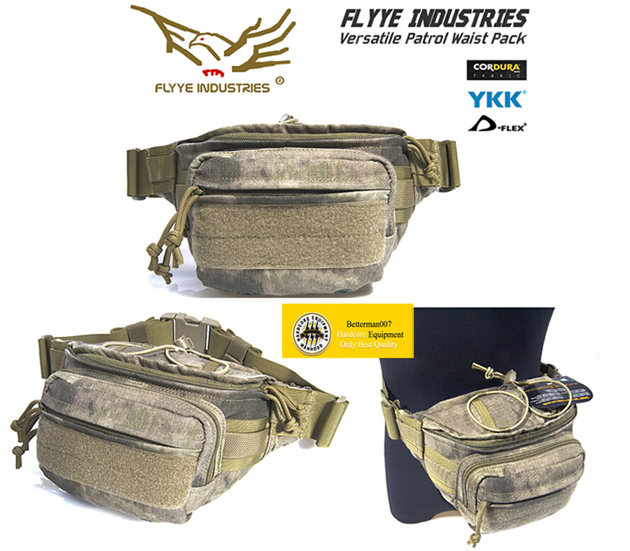 Genuine Flyye E009 1000D CORDURA Waterproof Nylon Molle Tactical Patrol Waistpacks - EDC Waist Bag Outdoor Sport Pack Betterman Hardcore Equipment -- Betterman007 / Simon Chen store