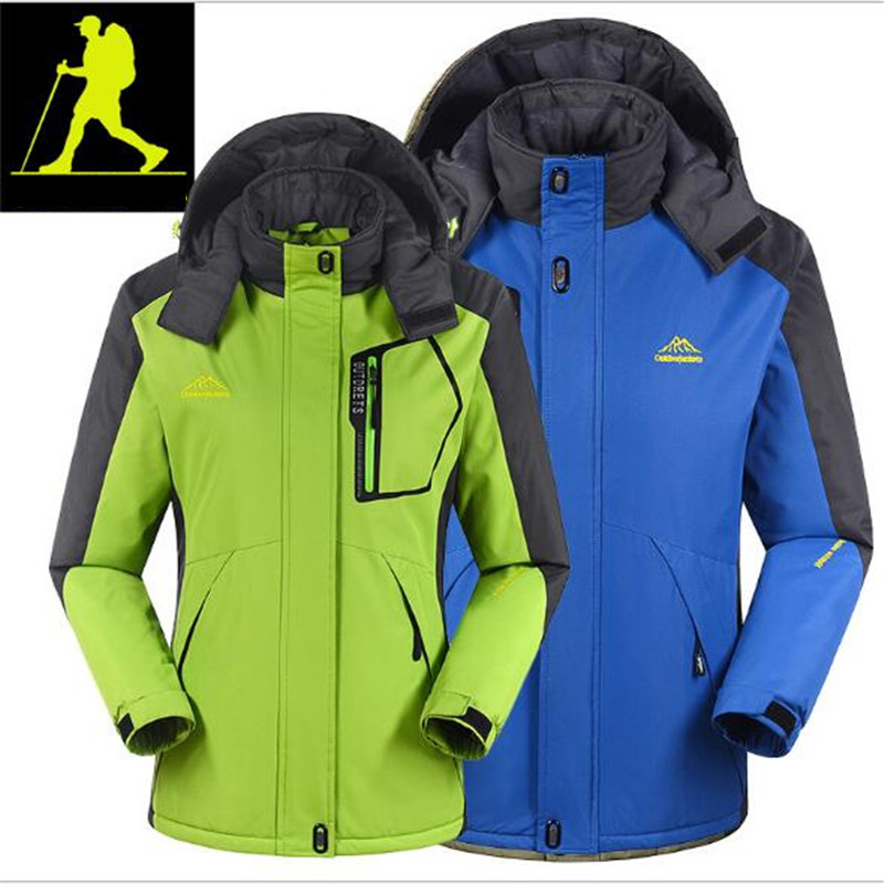 Outdoor Climbing, Rock Climbing, Skiing, Skateboarding, Large Yards Loose Plus Velvet Thickening Couple Jackets Ski Suit