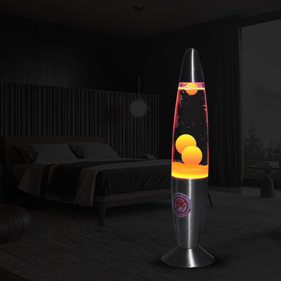 Us Plug Cute 110v Metal Base Lava Lamp Wax Volcano Style Night Light