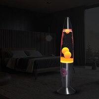 US Plug Cute 110V Metal Base Lava Lamp Wax Volcano Style Night Light Jellyfish Nightlight Glare Incandescent Lava Lighting Lamps