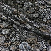 1 meter brocade fabric for sewing width 56/57 inches jacquard cloth yarn dyed fabrics metallic tecido flower 1804