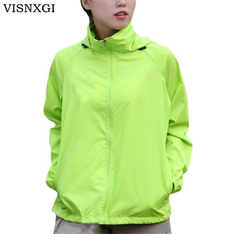 VISNXGI Men&Women Foldable   Jackets   Outdoor Camping   Jackets   Coat Fashion Ladies Hooded Casual   Basic     Jacket   Autumn Clothes XS-XXXL