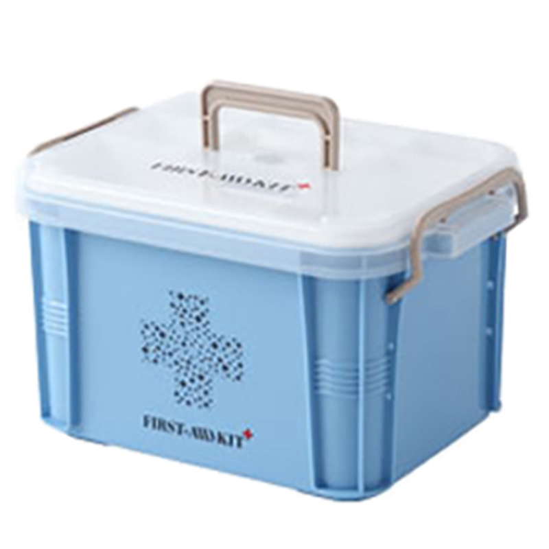 Medical Box First Aid Kit Organizer Plastic Storage Container Multi-Layer Medicine Box Nordic Home Organizing Boxes(China)