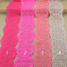 10 yards/lot 50mm width 18 colors Elastic Stretch Lace trim sewing /garment/apparel accessories