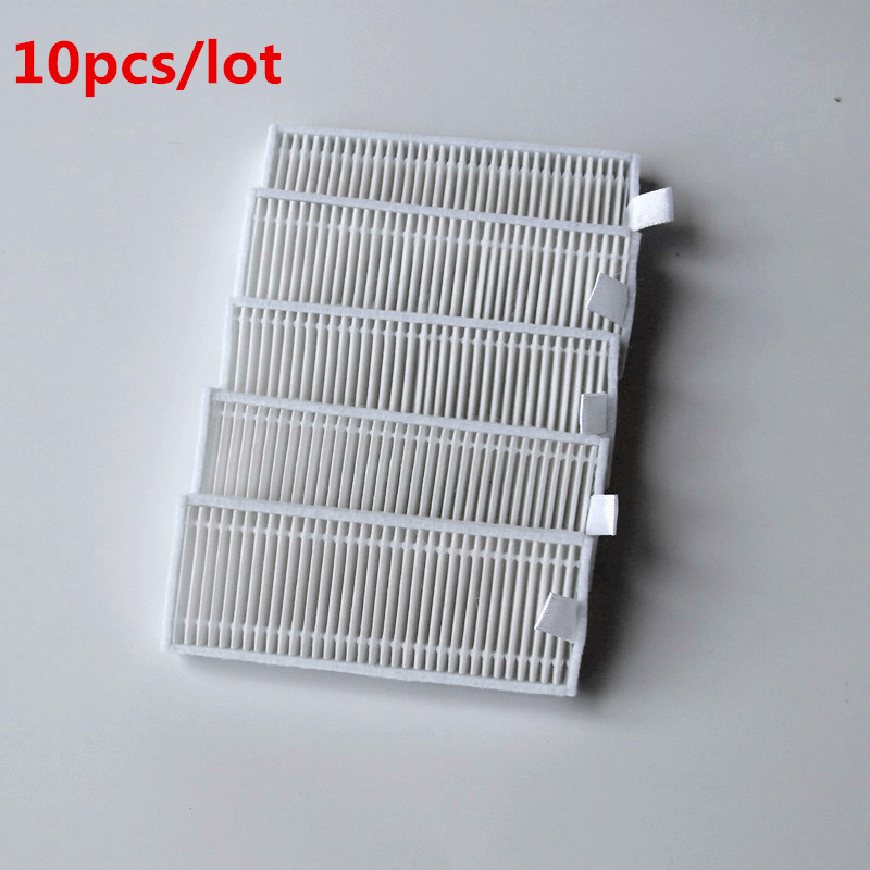 10 pcs/lot Robot Vacuum Cleaner HEPA Filter for Seebest D750 D730 D720 Robotic Vacuum Cleaner Parts 2pcs robotic vacuum cleaner robotic parts pack hepa filter for xiaomi mi robot filters cleaner accessories
