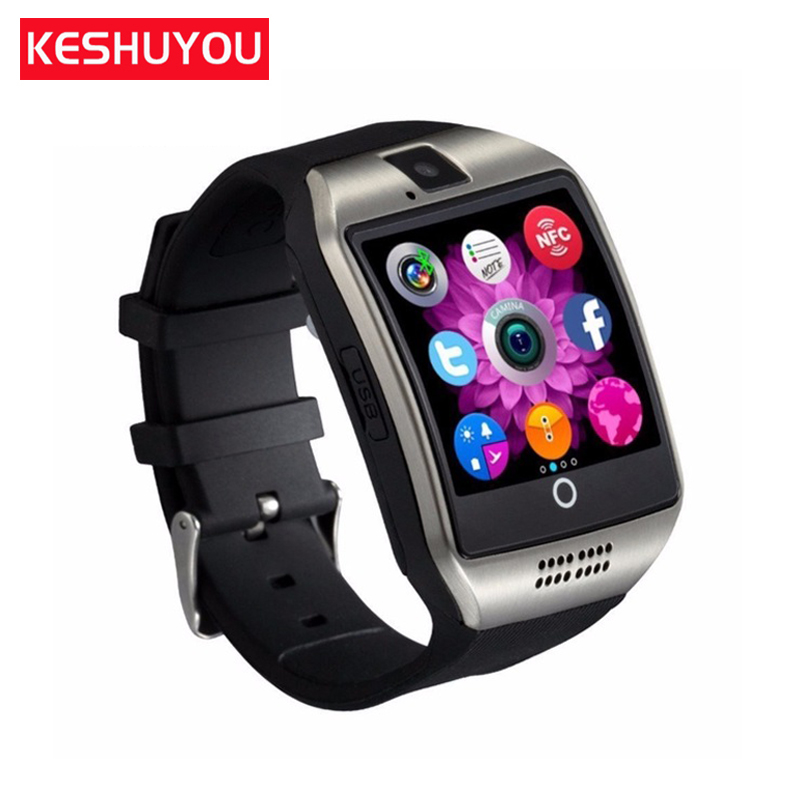 KESHUYOU  passometer band smart watch men android on wristband Smartwatch ios english Q18 For Android Smartphone Russia T15d
