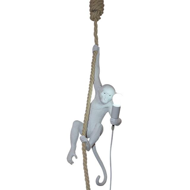 Modern monkey suspension light white monkey on a rope ceiling modern monkey suspension light white monkey on a rope ceiling pendant lamp fixture for dinning room aloadofball Gallery