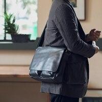 LANSPACE men's leather messenger bag cross body bag new design shoulder bags Leather bag Leisure handbag