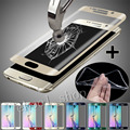 New 0.3 mm Frame cover 3D Tempered Glass Screen Protector For Samsung Galaxy S6 Edge/S6 Edge Plus+ Clear TPU Case Cover