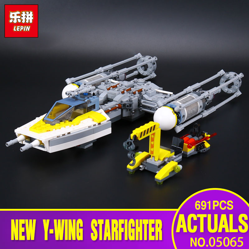 Lepin 05065 Star Genuine War Series The Y Starfighter Wing Set Building Blocks Bricks Educational Toys Legoing 75172 as Gifts rollercoasters the war of the worlds