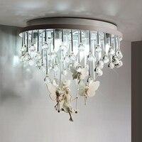 Europejski styl kryształ sufitu światło proste sypialnia balkon przejściach i korytarzach salon oświetlenie restauracji Żywicy anioł lamp sufitowych ZA