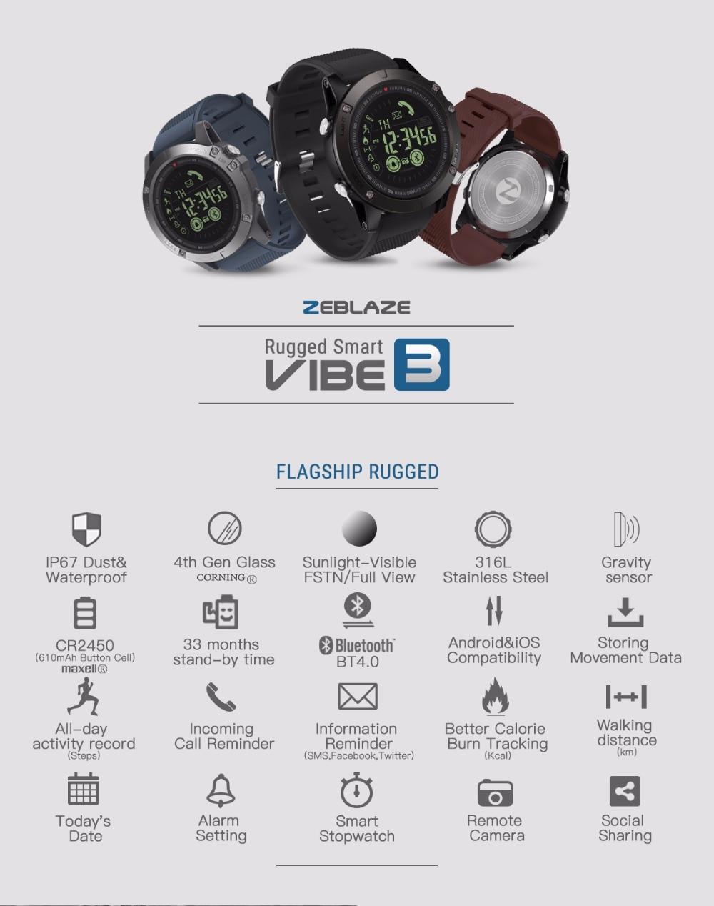 New Zeblaze VIBE 3 Flagship Rugged Smartwatch New Zeblaze VIBE 3 Flagship Rugged Smartwatch HTB1bdNdi8HH8KJjy0Fbq6AqlpXaM