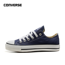 official photos b2b75 adac3 Converse All Star toile classique Low Top chaussures pour skateboard  Unisexe Bleu Anti-Glissante Sneakser
