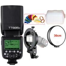Godox tt685 tt685c 2.4 г Беспроводной HSS 1/8000 s TTL Камера Вспышка Speedlite + Bowens S-Тип кронштейн для Canon Зеркальные фотокамеры