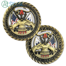 1/3/5/10pcs US Army Core Values Brass Challenge Coin Military Soldier Unit Medallion Cutout collectibles Gift for Sale