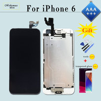 LCD Screen Display for iPhone 6 A1549 A1586 Pantalla Touch Screen Digitizer Full Assembly Replacement+Home Button+Front Camera