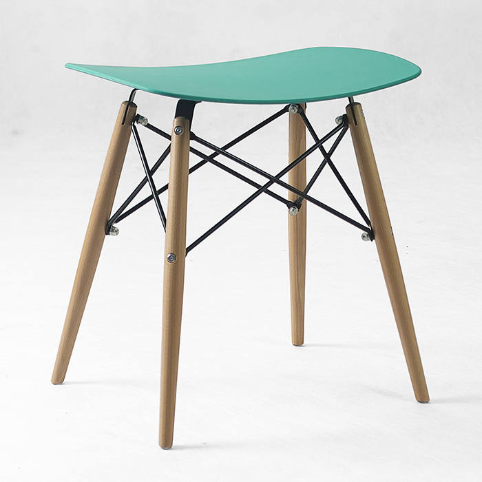 blue color stool office tea house chair plastic PP garden stool free shipping computer chair