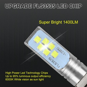 Image 2 - 2Pcs H1 H3 LED Bulb Super Bright 12 3535SMD Car Fog Lights 12V 24V 6000K White Driving Day Running Lamp Auto