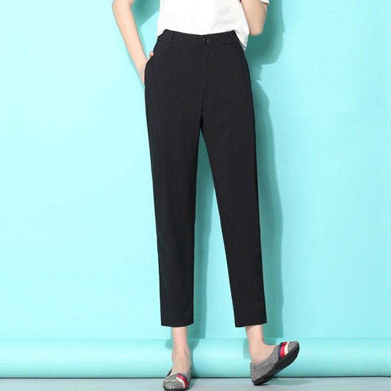 {Guoran} Summer 2018 Woman   Capri   Harem   Pants   Femme Plus Size Office Work Wear Trousers White Black Pencil Female Pantalon RED