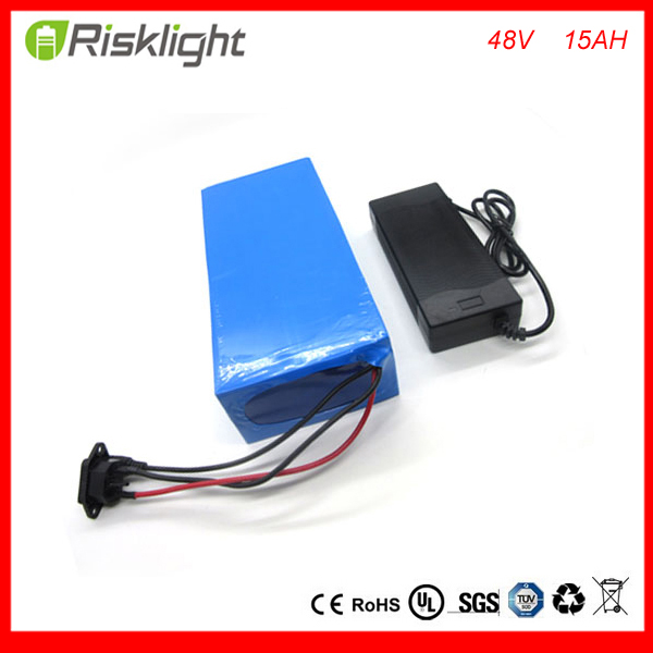 Free Customs taxes and shipping Rechargeable lithium ion battery 48V 15Ah Li-ion ebike battery for 48V 750W bafang 8fun motor free customs taxes powerful 48v 1000w electric bike battery pack li ion 48v 34ah batteries for electric scooter for lg cell