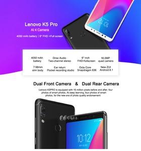 Image 2 - Global Lenovo K5 Pro L38041 6GB 128GB Snapdragon 636 4G LTE Octa Núcleo Quatro Câmeras de 5.99 polegada smartphones 4050mAh telemóvel