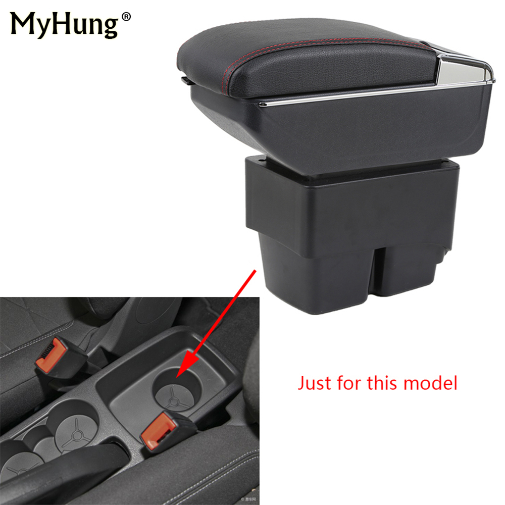Armrest box For Ford Fiesta 3 MK7 2009-17 Central Console Arm Store With Rise and Down Function box cup holder ashtray Car box car usb armrest box for ford fiesta 3 mk7 center storage box cup holder ashtray console armrest interior car styling accessories