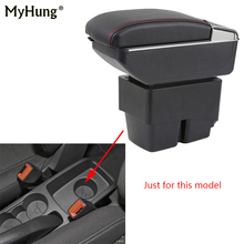 цена на Armrest box For Ford Fiesta 3 MK7 2009-17 Central Console Arm Store With Rise and Down Function box cup holder ashtray Car box