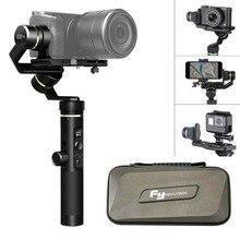 Feiyu G6 Plus 3-Eixo Cardan Handheld Estabilizador Para Gopro, iphone X 8 7 Plus, mirrorless Câmeras Digitais Dentro de 800g À Prova de Salpicos