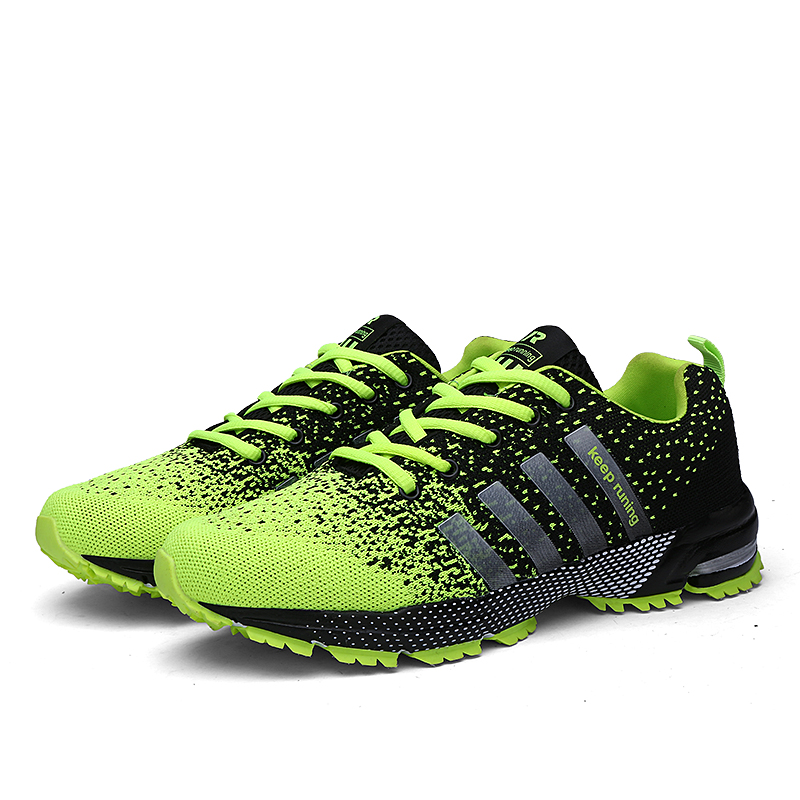 2018 Men Running Shoes Breathable Outdoor Sports Shoes Lightweight Sneakers for Women Comfortable Athletic Training Footwear(China)