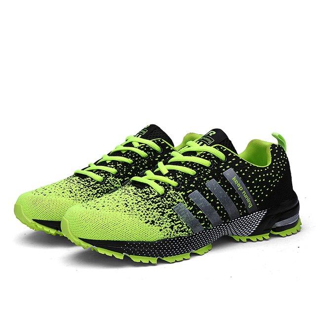2018 Erkekler koşu ayakkabıları Nefes Açık spor ayakkabı Hafif spor Ayakkabı Kadınlar için Rahat Atletik Eğitim Ayakkabı