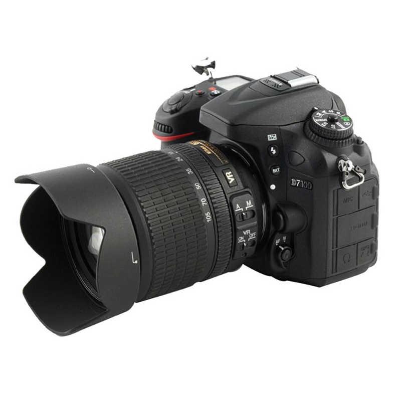 HB-32 67mm HB32 lente capucha Reversible Cámara accesorios de lentes para Nikon D90 D5200 D7000 D7100 D5100 18-105mm, 18mm-140mm