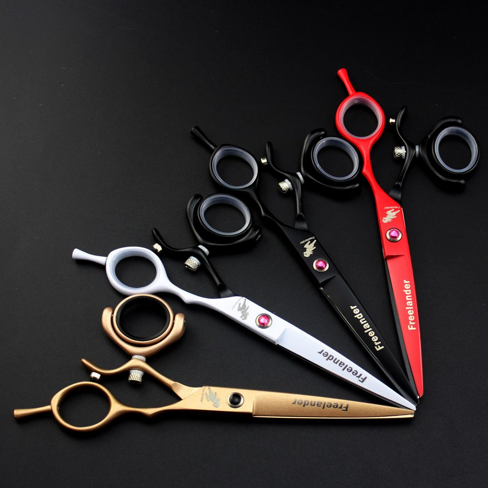 Freelander Japan Steel 6 inch Barber Hairdressing Scissors Cutting Shears Thinning Professional Human Hair