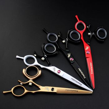 Freelander Japan Steel 6 inch Barber Hairdressing Scissors Cutting Shears Thinning Scissors Professional Human Hair Scissors professional 5 5 inch hair scissors brand titan t4 hairdressing shears 6 inch japan 440c cobalt stainless steel to barber gift page 2