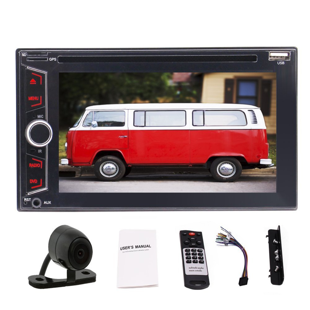 6.2 Capacitive In-dash Audio (no GPS Navigation) Double 2Din Bluetooth Car Stereo In Dash Video Auto radio DVD/CD Player+Camera free rearview camera touch screen 2 din car cd dvd player gps navigation car stereo in dash auto radio supports bluetooth ipod