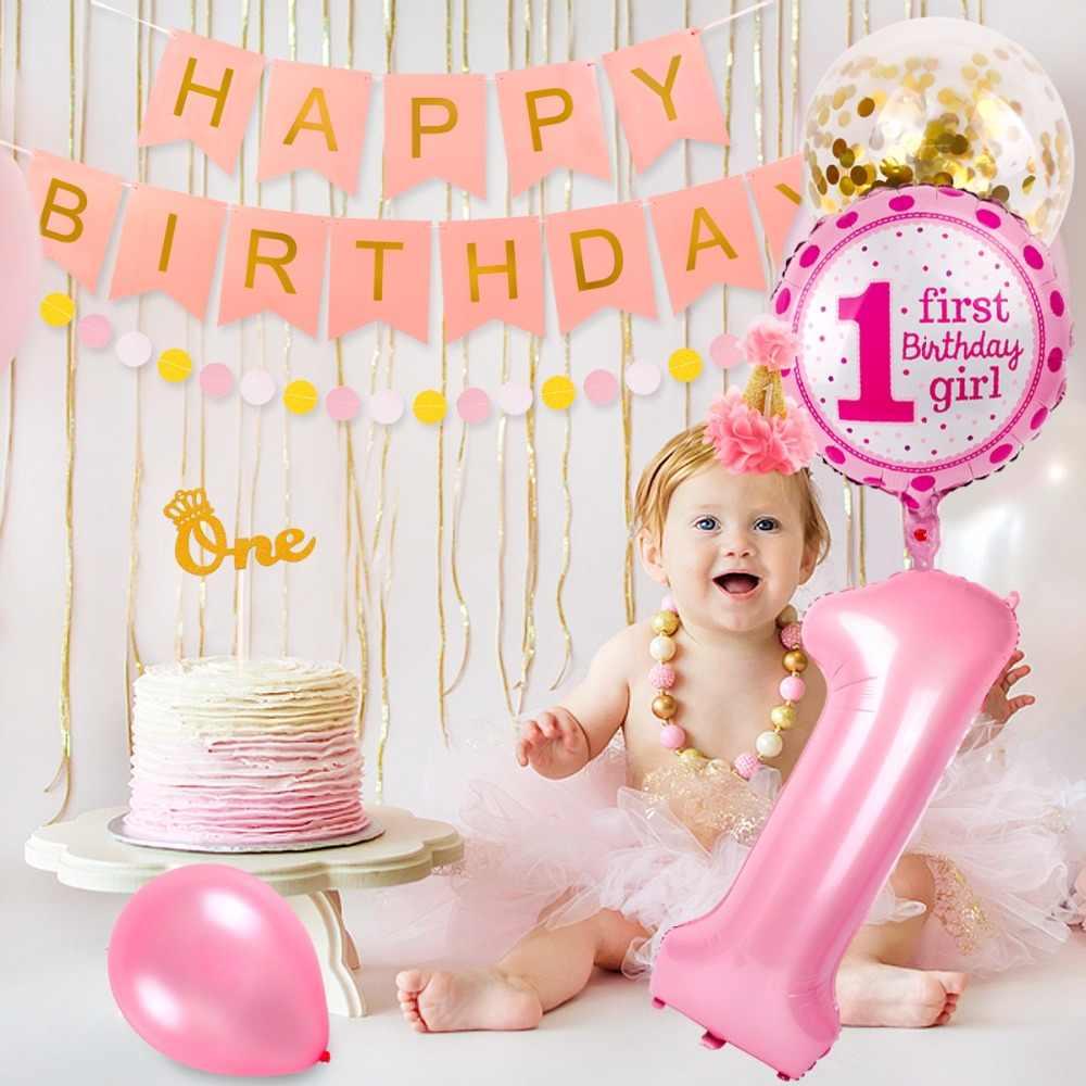 PATIMATE 1st Birthday Decorations First Birthday Girl ...