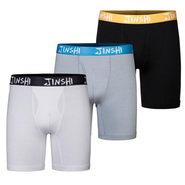 JINSHI (JS) Sexy Men's Boxers Underpants Boxer Shorts Bamboo Fiber Boxer Underwear Men Shorts Underwear Men Pouch Trunks Brand
