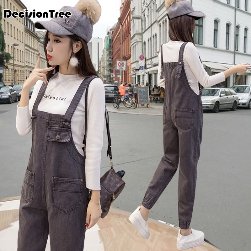 2019 new womens bodycon jumpsuit jeans denim rompers bib overalls trousers pants 3